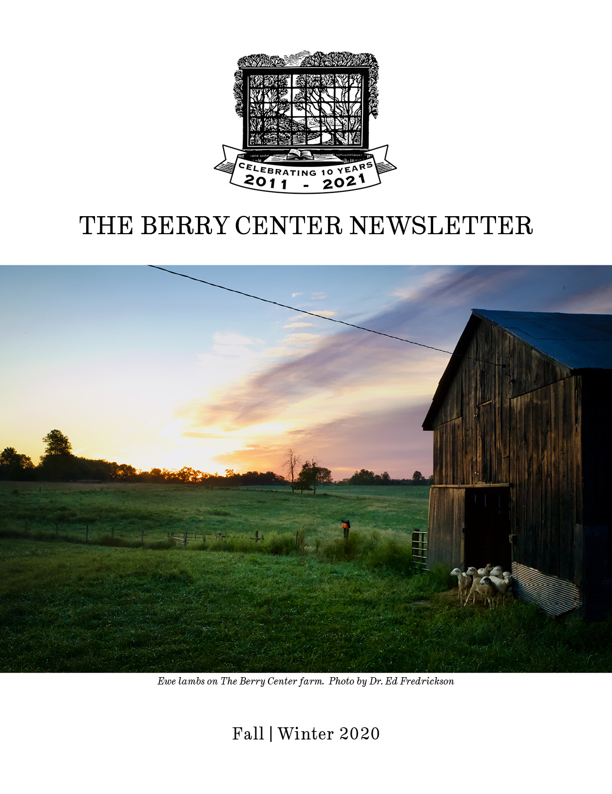 The Berry Center Newsletter Fall/Winter 2020 cover
