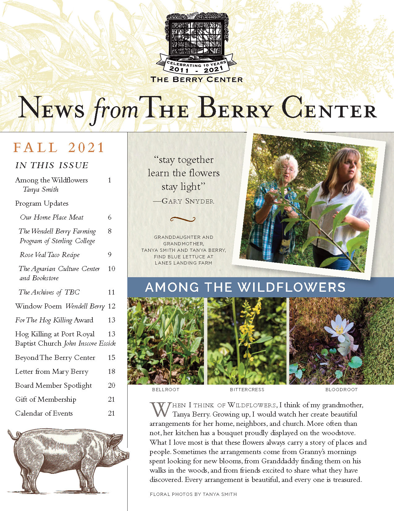 Cover Image of The Berry Center Fall Newsletter
